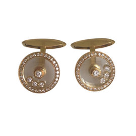 Chopard Happy Diamonds 18k Yellow Gold Cufflinks