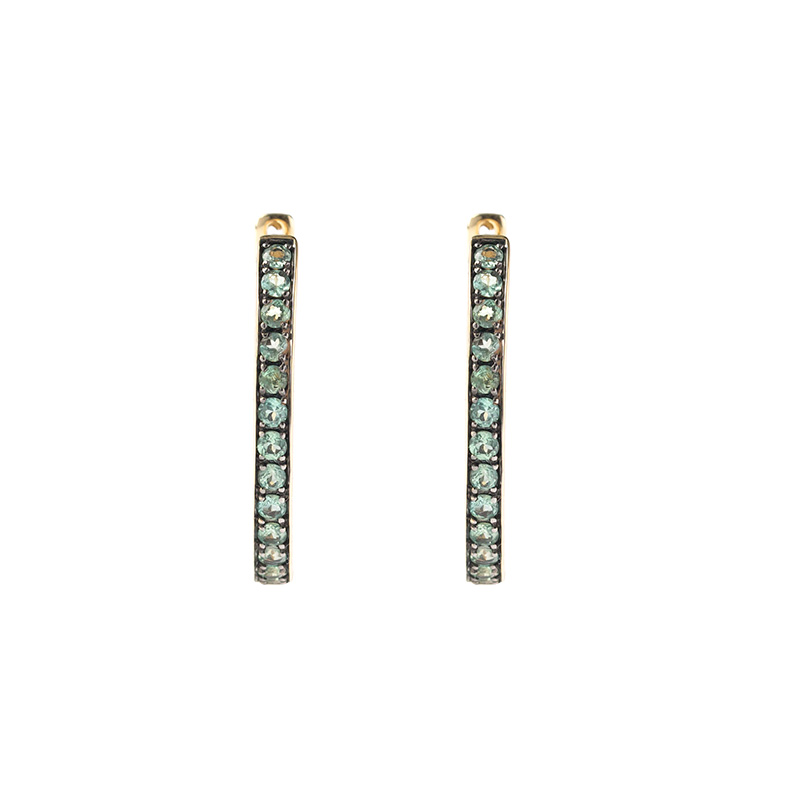 "Image of ""14k Yellow Gold Alexandrite Earrings"""