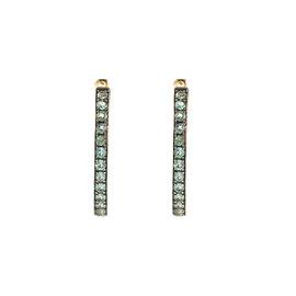 14k Yellow Gold Alexandrite Earrings