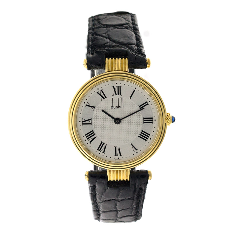 "Image of ""Dunhill 18K Yellow Gold Round Mens Watch"""