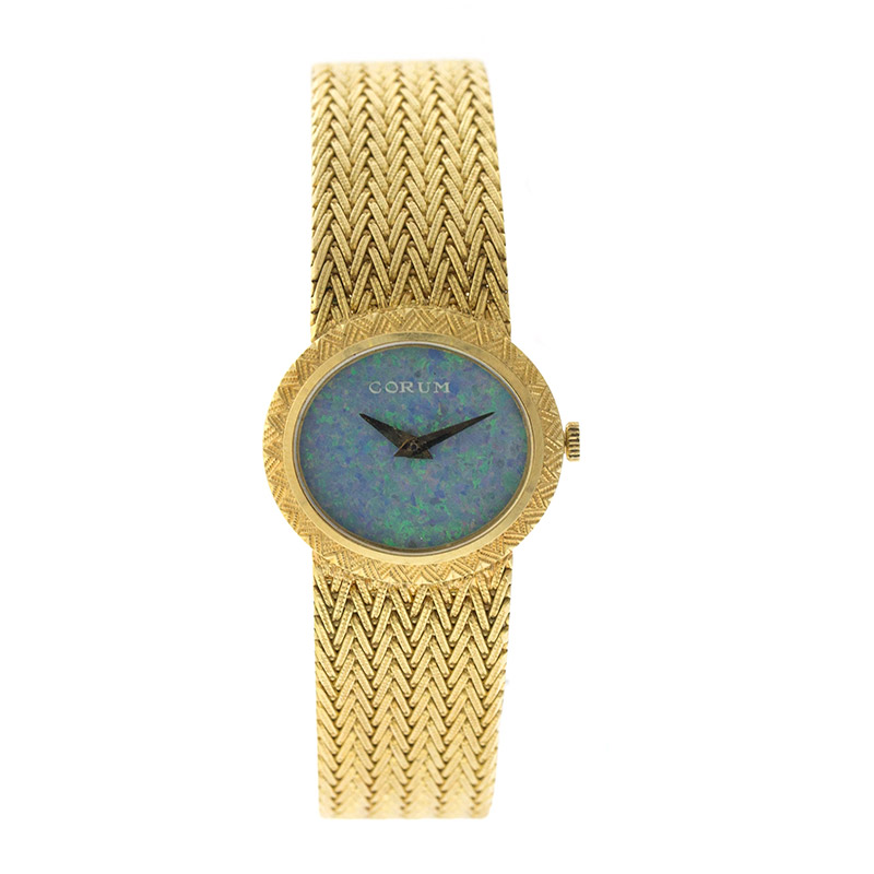 """Image of """"Corum 18K Yellow Gold Opal Dial Vintage Womens Watch"""""""