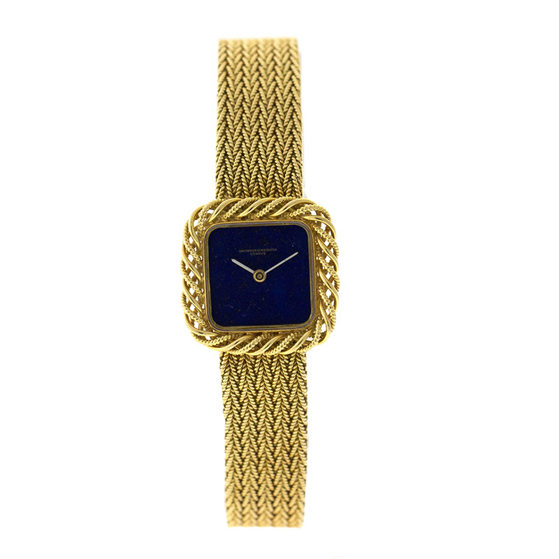 "Image of ""Vacheron Constantin 18K Yellow Gold Lapis Dial Womens Watch"""