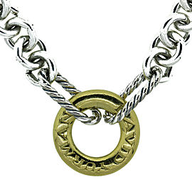 David Yurman Silver and 18K Yellow Gold Necklace