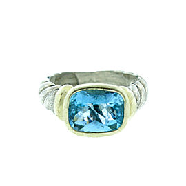 David Yurman Blue Topaz And Gold Noblesse Ring
