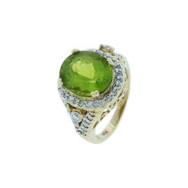 Le Vian 14K Yellow Gold Oval Peridot & Diamond Ring