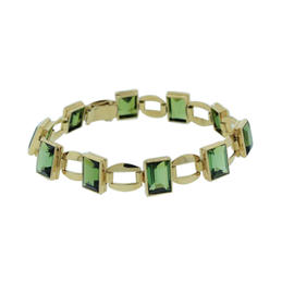 14K Yellow Gold Tourmaline Bracelet