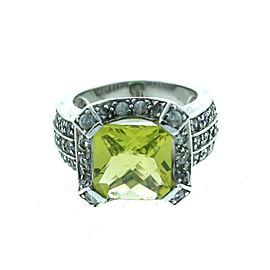 Sterling Silver Tsavorite & Crystal Quartz Ring