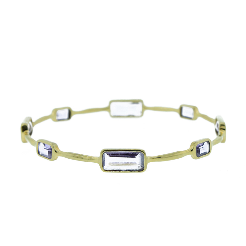 "Image of ""Ippolita 18K Yellow Gold Rock Candy Gelato Amethyst Bangle"""