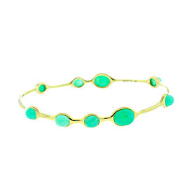 Ippolita 18K Yellow Gold Green Chrysoprase Bangle