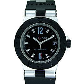 Bvlgari Diagono Aluminium Diamond Rubber 32mm Watch