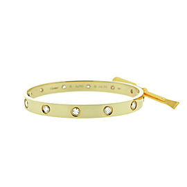 Cartier Love B6040517 Bracelet Yellow Gold 10 Diamonds Size 18