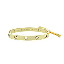 Cartier Love B6040517 Bracelet Yellow Gold 10 Diamonds Size 20