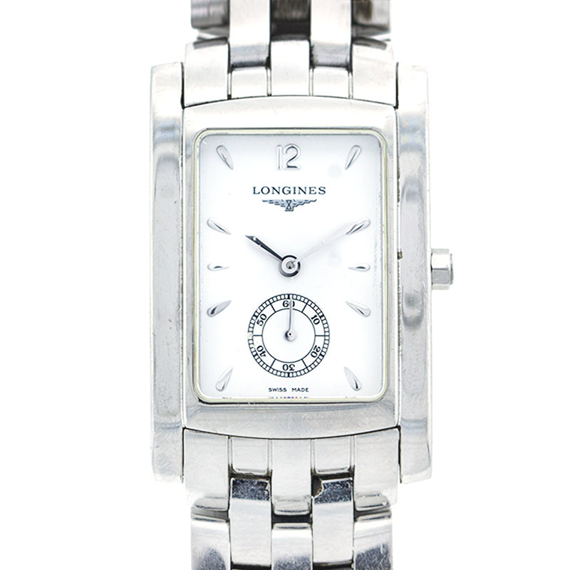"""Image of """"Longines Stainless Steel Rectangular Mens Watch"""""""
