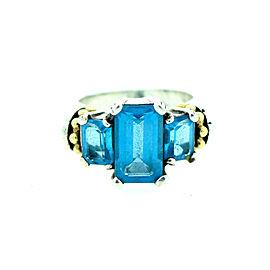 Lagos Caviar Blue Topaz Ring