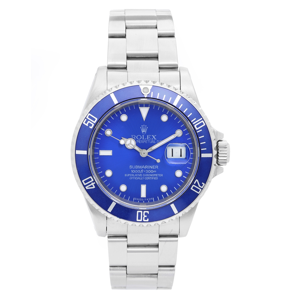 """Image of """"Rolex Submariner 16610 Stainless Steel Blue Dial & Bezel 40mm Mens"""""""