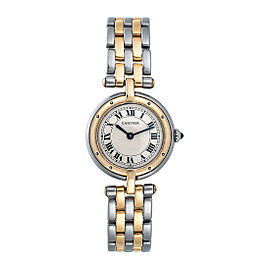 Cartier Panthere Vendome 1057920 Two Row Gold Steel Quartz 24mm Womens Watch