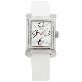 Oris Rectangular 561 7621 4961 Stainless Steel Diamond 26mm Watch