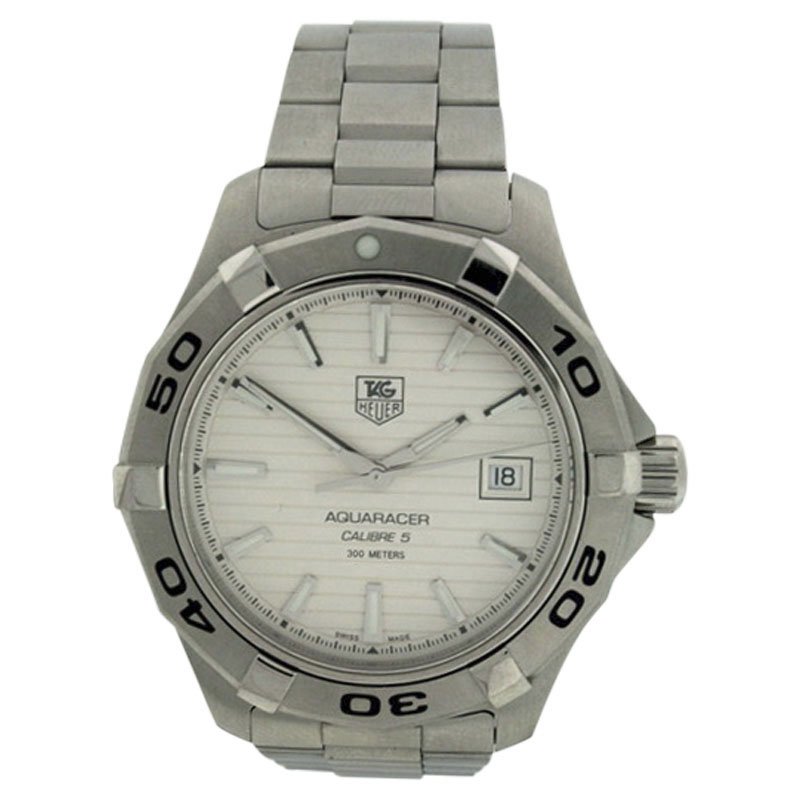 "Image of ""TAG Heuer Aquaracer Stainless Steel Date 41mm Watch"""