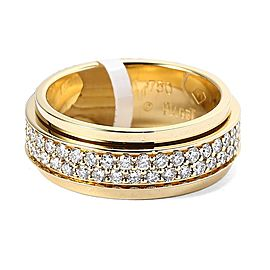 Piaget 18K Yellow Gold Diamond Ring Size 6.5