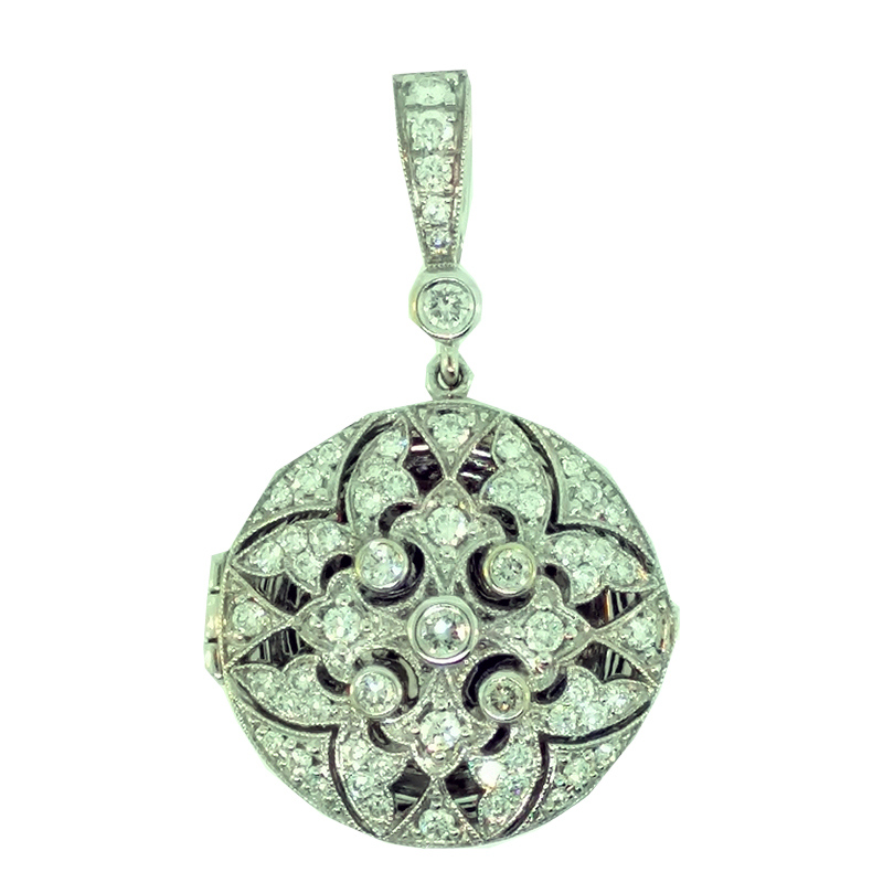 "Image of ""Penny Preville 18K White Gold with 0.75ct. Diamond Locket Pendant"""