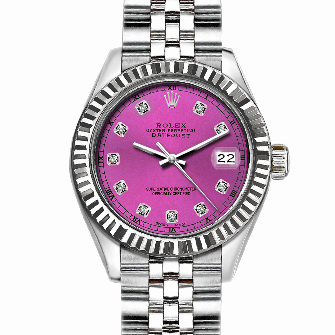 """Image of """"Rolex Datejust Stainless Steel with Pink Dial 36mm Unisex Watch"""""""