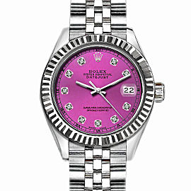 Rolex Datejust Stainless Steel with Pink Dial 36mm Unisex Watch