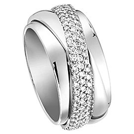 Piaget 18K White Gold Ring Size 7.25