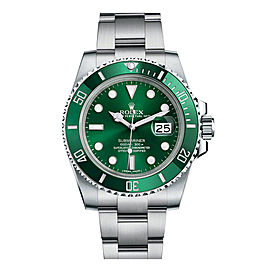Rolex Submariner 'The Hulk' 116610LV Stainless Steel Green Dial Ceramic Bezel 40mm Mens Watch
