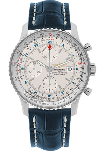 "Image of ""Breitling Navitimer World A2432212-G571-746P-A20Ba.1 Stainless Steel /"""