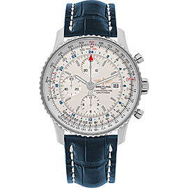 Breitling Navitimer World A2432212-G571-746P-A20BA.1 Stainless Steel / Leather Automatic 46mm Mens Watch