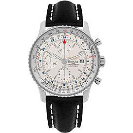 Breitling Navitimer World A2432212-G571BKLD Stainless Steel 46mm Mens Watch