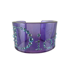 Blue Dior Cuff with Teal Rhinestones