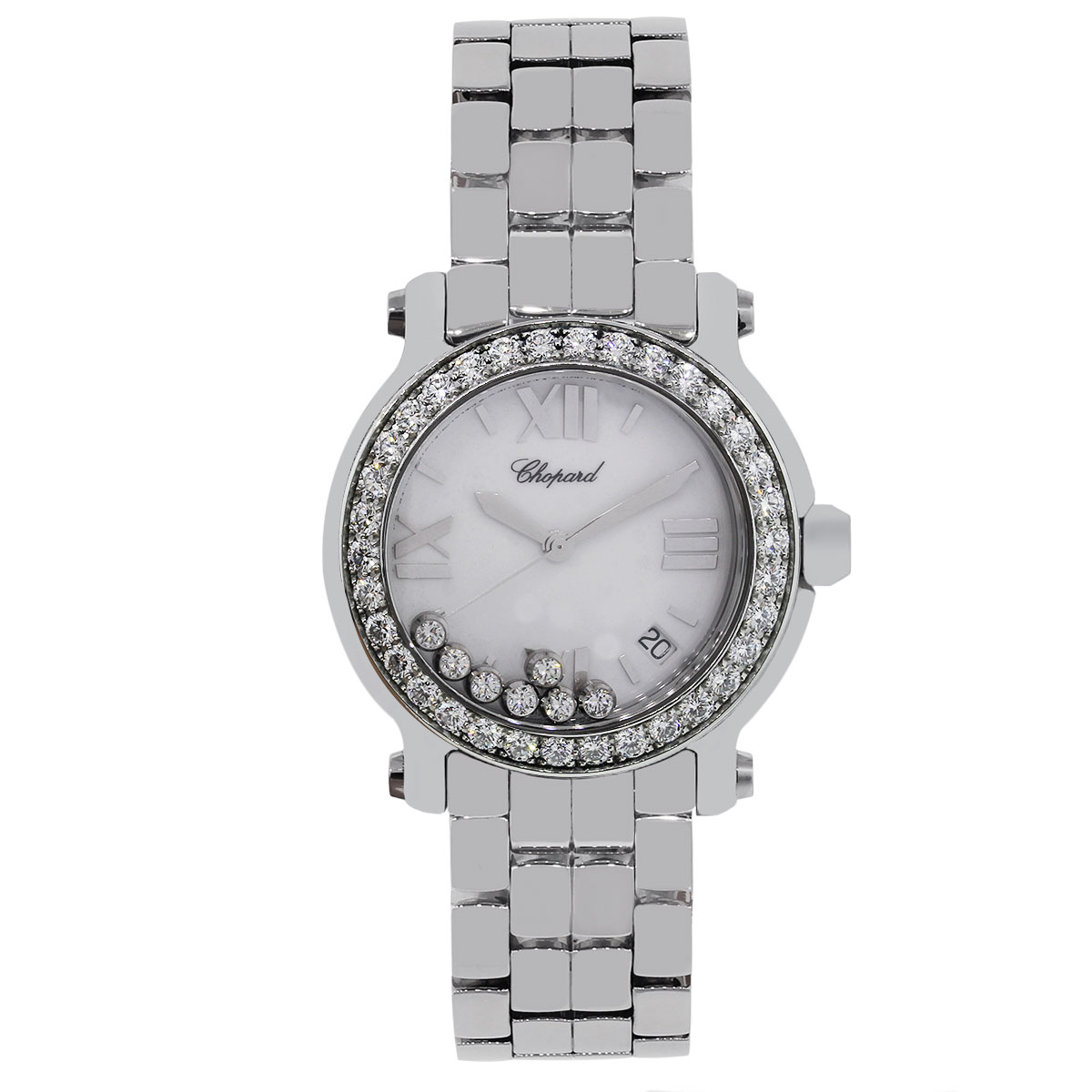 "Image of ""Chopard Happy Sport 8475 Stainless Steel Diamond Quartz 36mm Unisex"""