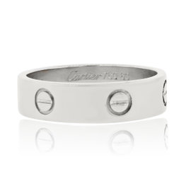 Cartier Love 18K White Gold Ring Size 10.25