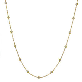 18K Yellow Gold 3.51ct. Diamond By The Yard Necklace
