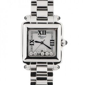 Chopard Happy Sport Stainless Steel & Diamonds 27mm Womens Watch