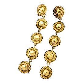 Chanel Gold Tone Hardware CC Dangle Drop Earrings