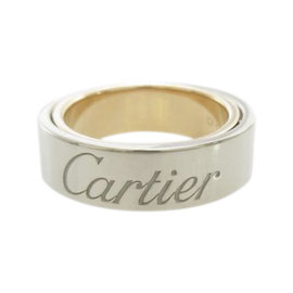 Cartier 18K Pink And White Gold Love Secret Ring Size 3.25