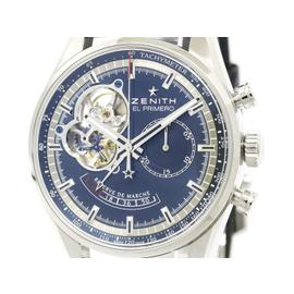 Zenith 03.2085.4021 Chronomaster Stainless Steel & Leather El Primero 42mm Mens Watch