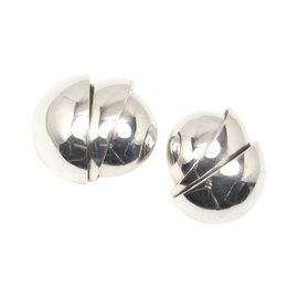 Tiffany & Co. Sterling Silver X-Large Round Clip-On Earrings