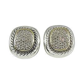 David Yurman Sterling Silver & 18K Yellow Gold 1.00ct. Diamond Albion Earrings