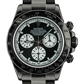 Rolex Daytona 116520 PVD Coated Stainless Steel with Black Dial 40mm Mens Watch