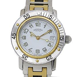 Hermes Clipper Diver CL5 .220 Stainless Steel with Silver Dial Quartz 28mm Womens Watch