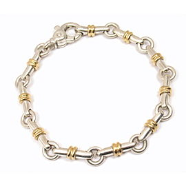 Tiffany & Co. Sterling Silver and 18K Yellow Gold Bar Link Bracelet