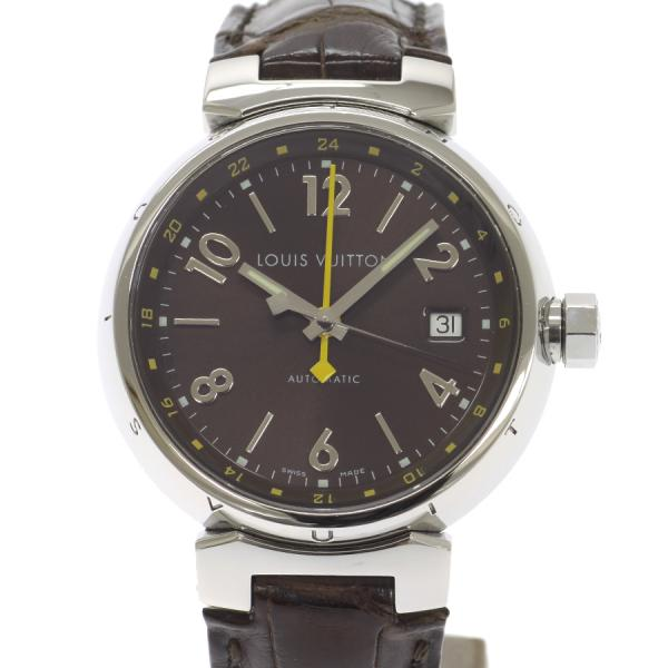 "Image of ""Louis Vuitton Tambour Q1131 Stainless And Leather Steel Automatic 38mm"""