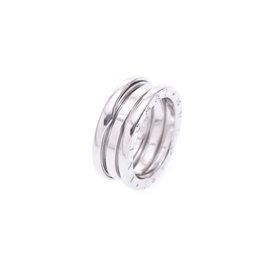 Bulgari B-ZERO 18K White Gold Ring Size 6.25