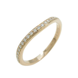 Cartier 18K Roe Gold and Diamond Ballerina Ring Size 4.5