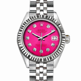 Rolex Datejust Stainless Steel with Hot Pink Dial 36mm Unisex Watch