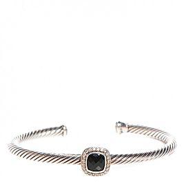 David Yurman Albion Sterling Silver Black Onyx Diamonds Bracelet