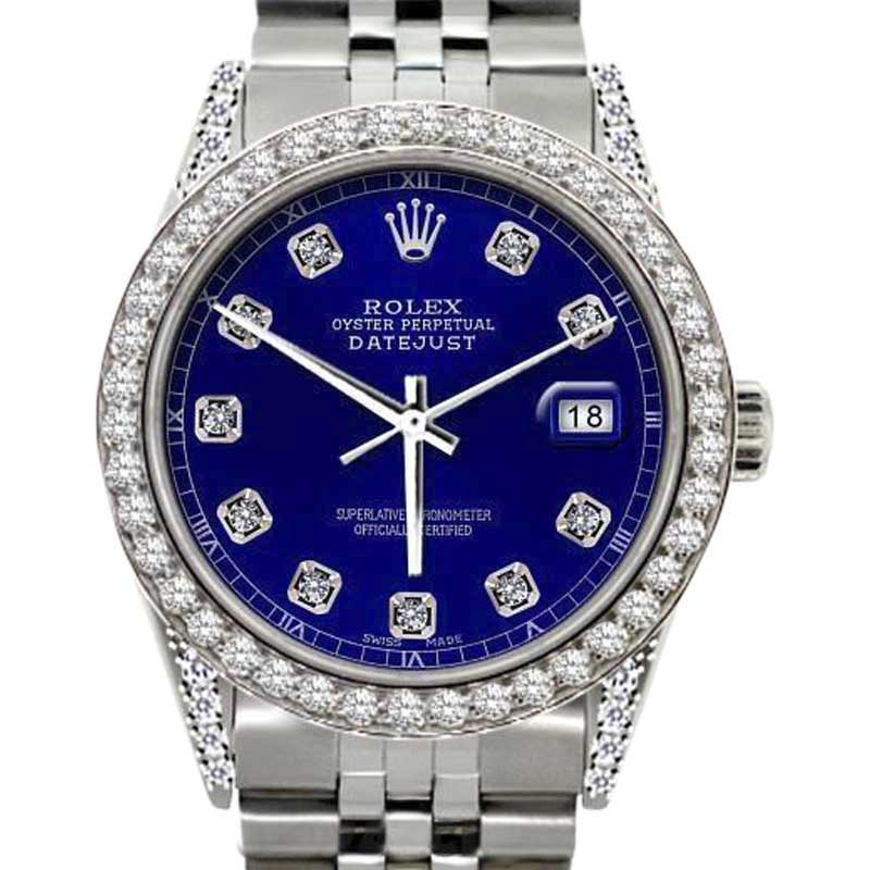 "Image of ""Rolex Datejust Stainless Steel & 2.5ct Diamond 31mm Watch"""